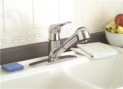 PREMIER® SONOMA™ KITCHEN FAUCET WITH PULL-OUT AND SINGLE HANDLE, 1.8 GPM, CHROME, LEAD FREE - Score Materials - 3