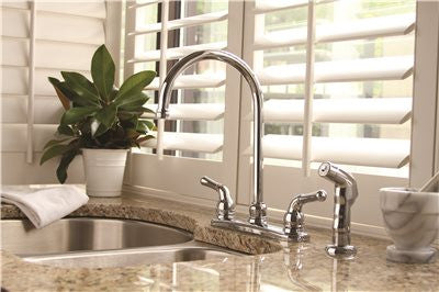 SANIBEL KITCHEN FAUCET CHROME WITH SPRAY - Score Materials