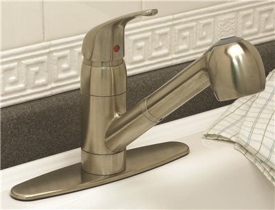 BAYVIEW PULL OUT KITCHEN FAUCET BRUSHED NICKEL FINISH - Score Materials - 2