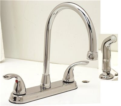 WESTLAKE KITCHEN FAUCET TWO HANDLE WITH SPRAY CHROME - Score Materials - 2
