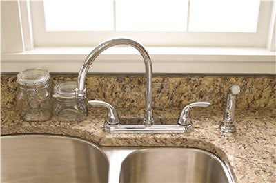 WESTLAKE KITCHEN FAUCET TWO HANDLE WITH SPRAY CHROME