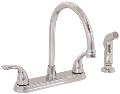 WESTLAKE KITCHEN FAUCET TWO HANDLE WITH SPRAY CHROME - Score Materials - 1