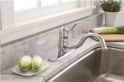 SONOMA SINGLE-HANDLE KITCHEN FAUCET WITH MATCHING SIDE SPRAY, CHROME - Score Materials - 2