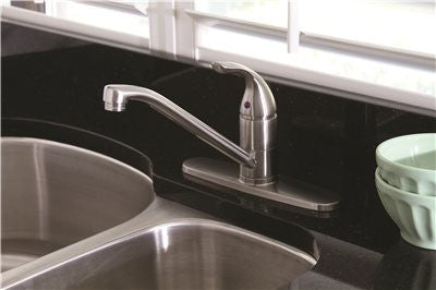 PREMIER® CALIBER® KITCHEN FAUCET WITH SINGLE LEVER HANDLE, BRUSHED NICKEL, LEAD FREE - Score Materials - 1