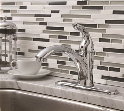 PREMIER® WATERFRONT™ KITCHEN FAUCET WITH SINGLE HANDLE, 1.8 GPM, CHROME, LEAD FREE* - Score Materials - 2