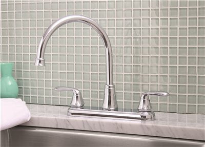 PREMIER® WATERFRONT™ KITCHEN FAUCET WITH TWO HANDLES, 1.8 GPM, CHROME, LEAD FREE* - Score Materials - 2