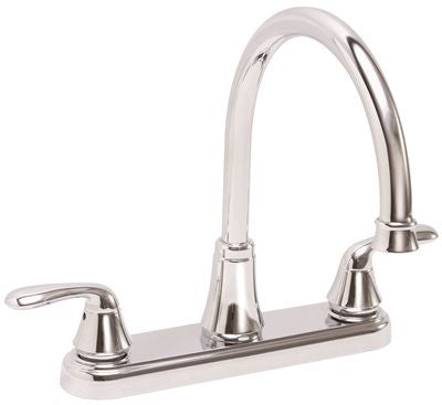 PREMIER® WATERFRONT™ KITCHEN FAUCET WITH TWO HANDLES, 1.8 GPM, CHROME, LEAD FREE* - Score Materials - 1