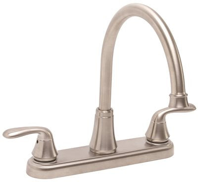 PREMIER® WATERFRONT™ KITCHEN FAUCET WITH TWO HANDLES, 1.8 GPM, BRUSHED NICKEL, LEAD FREE* - Score Materials - 1
