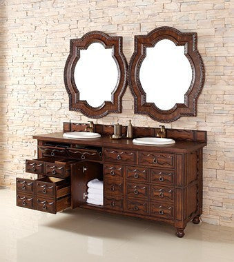 "James Martin Solid Wood 72"" Castilian Double Bathroom Vanity In Aged Cognac 160-V72-ACG - Score Materials - 11"