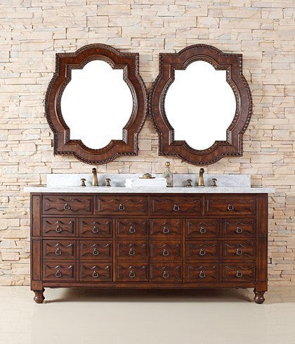 "James Martin Solid Wood 72"" Castilian Double Bathroom Vanity In Aged Cognac 160-V72-ACG - Score Materials - 6"