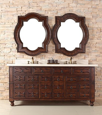 "James Martin Solid Wood 72"" Castilian Double Bathroom Vanity In Aged Cognac 160-V72-ACG - Score Materials - 7"