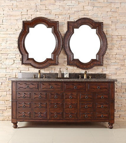 "James Martin Solid Wood 72"" Castilian Double Bathroom Vanity In Aged Cognac 160-V72-ACG - Score Materials - 8"