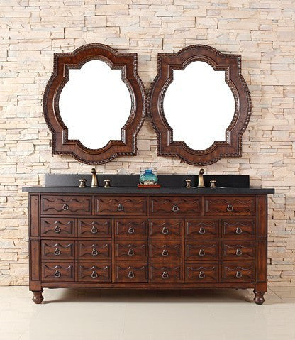 "James Martin Solid Wood 72"" Castilian Double Bathroom Vanity In Aged Cognac 160-V72-ACG - Score Materials - 10"
