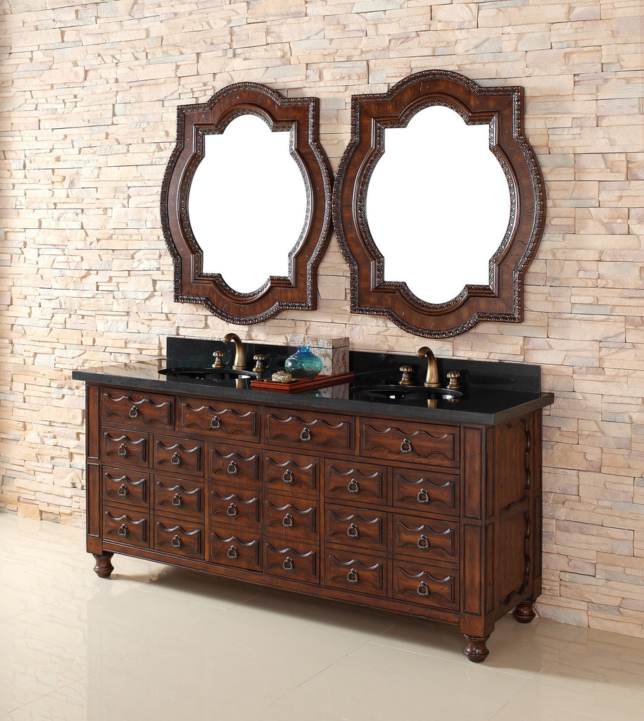 "James Martin Solid Wood 72"" Castilian Double Bathroom Vanity In Aged Cognac 160-V72-ACG - Score Materials - 1"