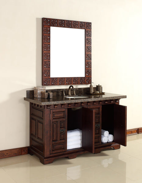 "James Martin Solid Wood 60"" Monterey Single Bathroom Vanity In Antique Brandy 170-V60S-ANB - Score Materials - 3"