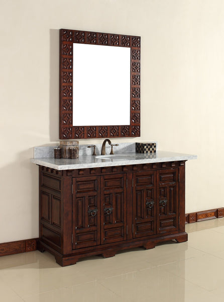 "James Martin Solid Wood 60"" Monterey Single Bathroom Vanity In Antique Brandy 170-V60S-ANB - Score Materials - 4"