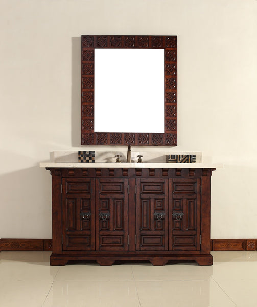 "James Martin Solid Wood 60"" Monterey Single Bathroom Vanity In Antique Brandy 170-V60S-ANB - Score Materials - 6"