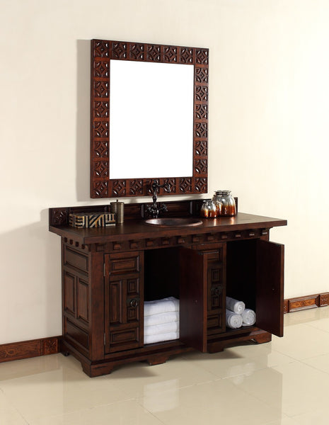 "James Martin Solid Wood 60"" Monterey Single Bathroom Vanity In Antique Brandy 170-V60S-ANB - Score Materials - 8"