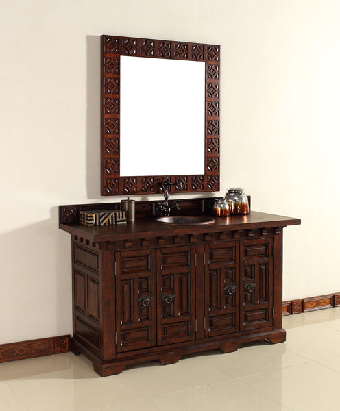 "James Martin Solid Wood 60"" Monterey Single Bathroom Vanity In Antique Brandy 170-V60S-ANB - Score Materials - 9"
