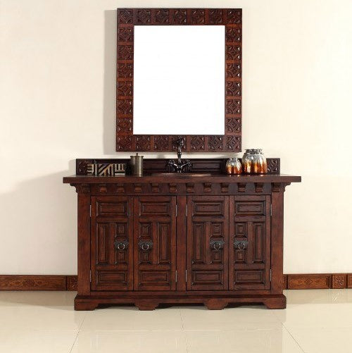 "James Martin Solid Wood 60"" Monterey Single Bathroom Vanity In Antique Brandy 170-V60S-ANB - Score Materials - 10"