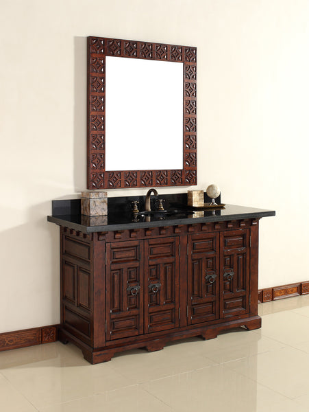 "James Martin Solid Wood 60"" Monterey Single Bathroom Vanity In Antique Brandy 170-V60S-ANB - Score Materials - 1"