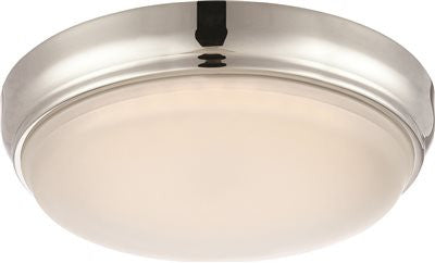 NUVO® DOT LED FLUSH MOUNT CEILING FIXTURE, POLISHED NICKEL, 11 IN., - Score Materials
