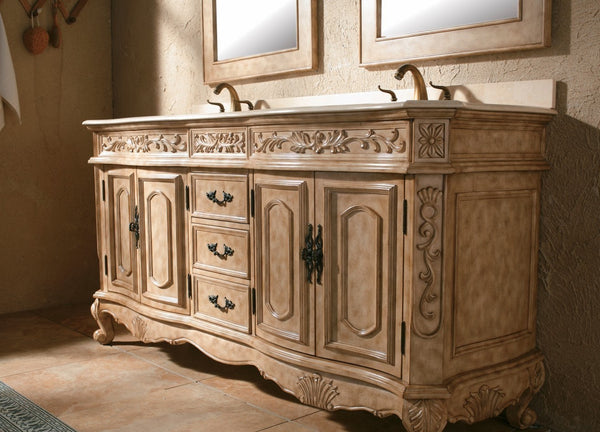 "James Martin Classico Collection Solid Wood 72"" Double Bathroom Vanity, Antique In Parchment 206-001-5500 - Score Materials - 4"