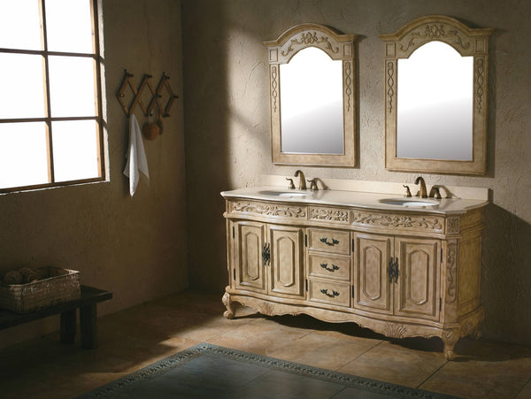 "James Martin Classico Collection Solid Wood 72"" Double Bathroom Vanity, Antique In Parchment 206-001-5500 - Score Materials - 5"