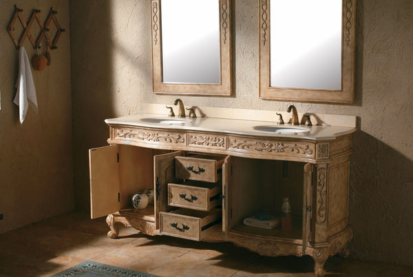 "James Martin Classico Collection Solid Wood 72"" Double Bathroom Vanity, Antique In Parchment 206-001-5500 - Score Materials - 6"