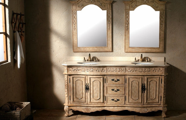 "James Martin Classico Collection Solid Wood 72"" Double Bathroom Vanity, Antique In Parchment 206-001-5500 - Score Materials - 7"