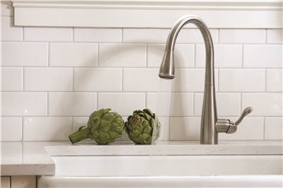 PREMIER® SANIBEL™ SINGLE-HANDLE PULL-DOWN KITCHEN FAUCET, STAINLESS STEEL - Score Materials - 3