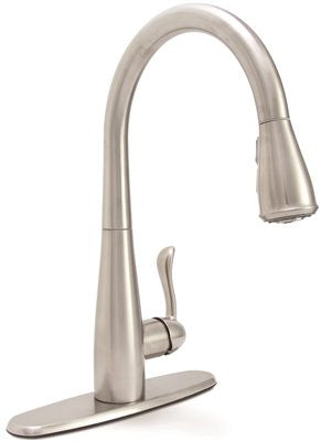 PREMIER® SANIBEL™ SINGLE-HANDLE PULL-DOWN KITCHEN FAUCET, STAINLESS STEEL - Score Materials - 1