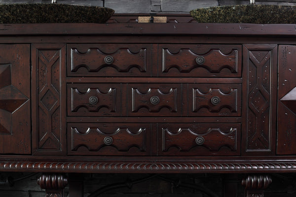 "James Martin Solid Wood 72"" Balmoral Double Bathroom Vanity In Antique Walnut 150-V72-ANW - Score Materials - 7"