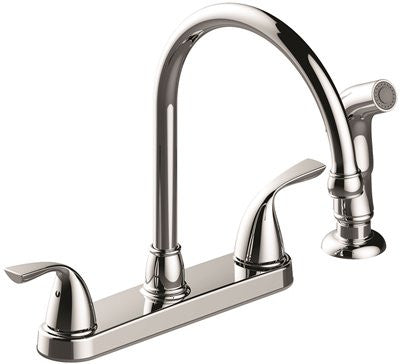 PREMIER® SANIBEL™ TWO-HANDLE KITCHEN FAUCET WITH SIDE SPRAY, CHROME - Score Materials - 1
