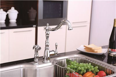PREMIER® CHARLESTOWN™ SINGLE-HANDLE KITCHEN FAUCET WITH SIDE SPRAY, CHROME - Score Materials - 2