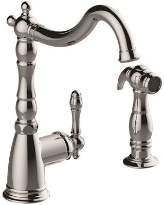 PREMIER® CHARLESTOWN™ SINGLE-HANDLE KITCHEN FAUCET WITH SIDE SPRAY, CHROME - Score Materials - 1