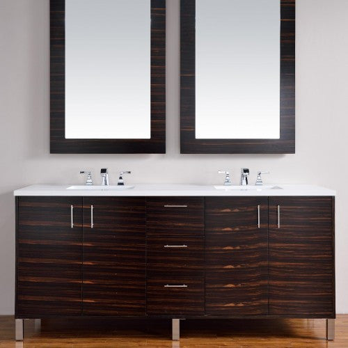 "James Martin Metropolitan 72"" Double Bathroom Vanity 850-V72-Meb - Score Materials - 2"
