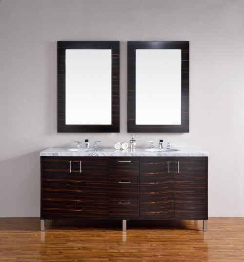"James Martin Metropolitan 72"" Double Bathroom Vanity 850-V72-Meb - Score Materials - 3"