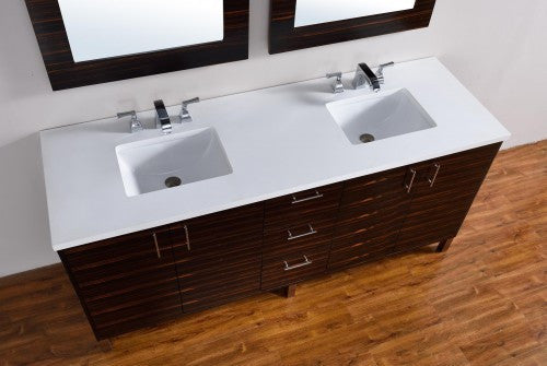 "James Martin Metropolitan 72"" Double Bathroom Vanity 850-V72-Meb - Score Materials - 4"