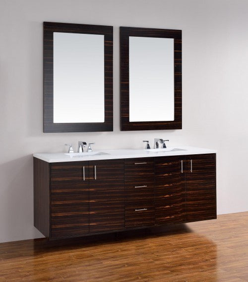 "James Martin Metropolitan 72"" Double Bathroom Vanity 850-V72-Meb - Score Materials - 5"