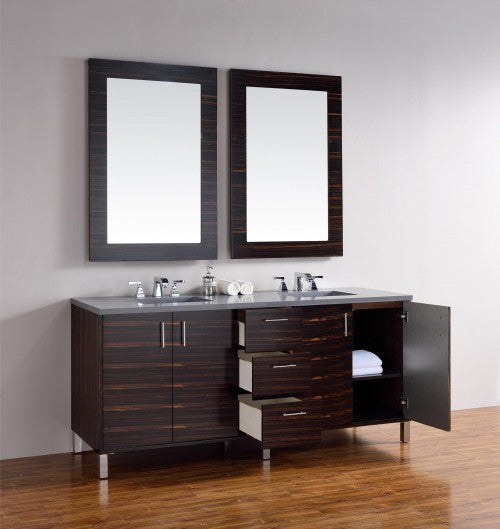 "James Martin Metropolitan 72"" Double Bathroom Vanity 850-V72-Meb - Score Materials - 6"