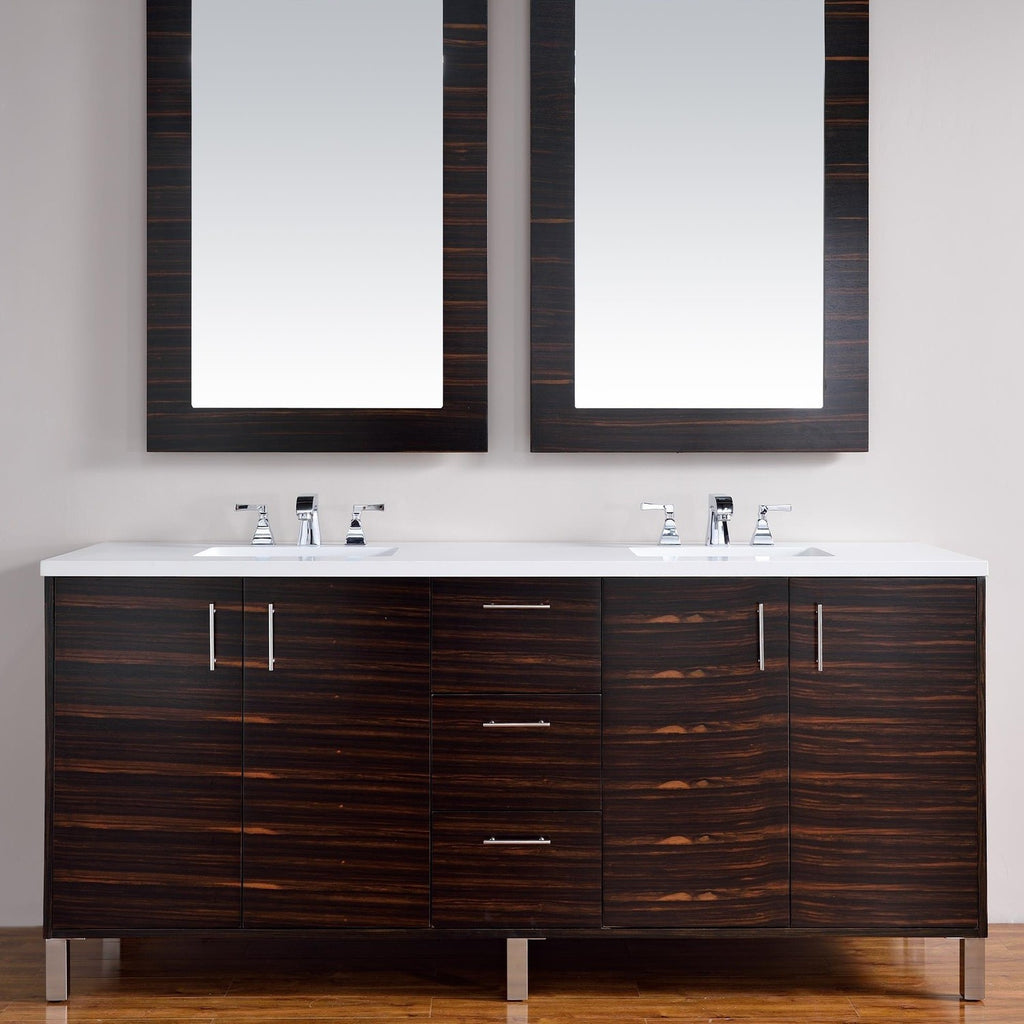 "James Martin Metropolitan 72"" Double Bathroom Vanity 850-V72-Meb - Score Materials - 1"