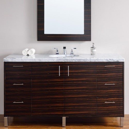 "James Martin Metropolitan 60"" Single Bathroom Vanity 850-V60s-Meb - Score Materials - 2"