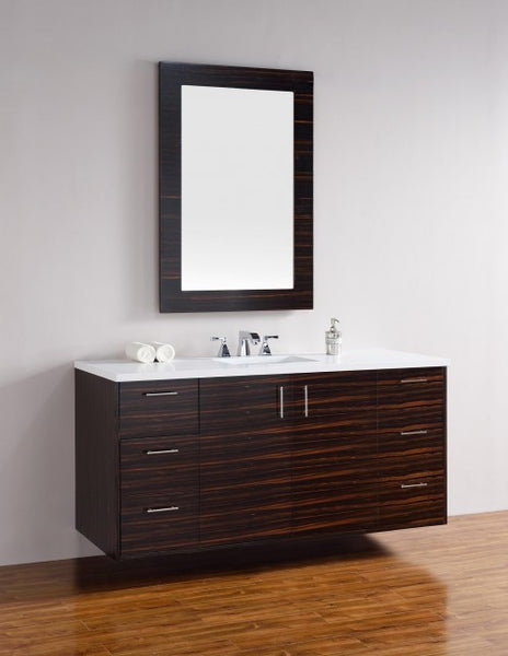 "James Martin Metropolitan 60"" Single Bathroom Vanity 850-V60s-Meb - Score Materials - 3"