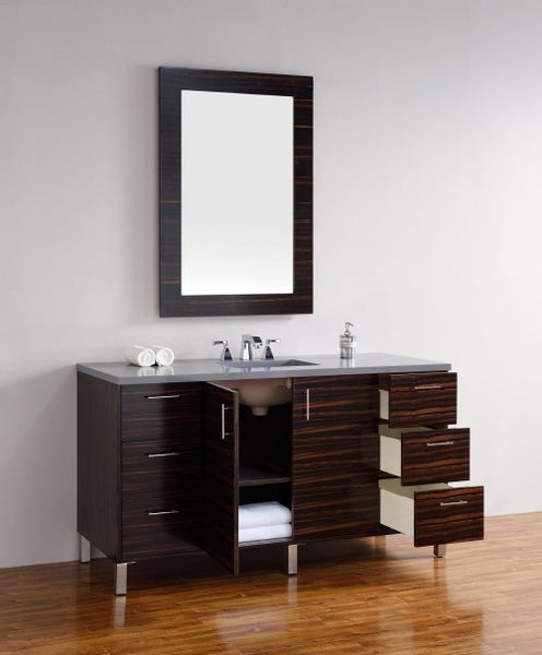 "James Martin Metropolitan 60"" Single Bathroom Vanity 850-V60s-Meb - Score Materials - 4"