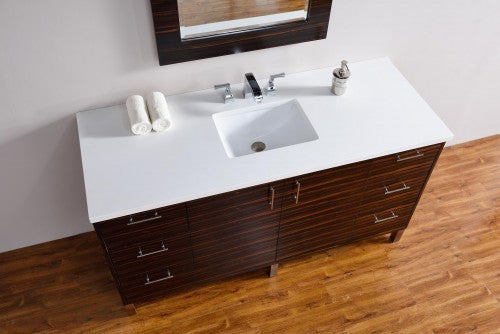 "James Martin Metropolitan 60"" Single Bathroom Vanity 850-V60s-Meb - Score Materials - 5"