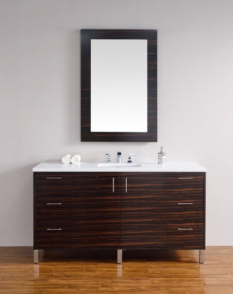 "James Martin Metropolitan 60"" Single Bathroom Vanity 850-V60s-Meb - Score Materials - 6"