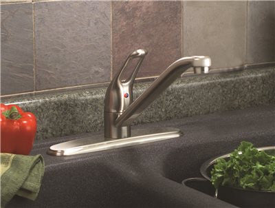 PREMIER® BAYVIEW™ KITCHEN FAUCET WITH LOOP HANDLE, BRUSHED NICKEL, LEAD FREE - Score Materials - 2