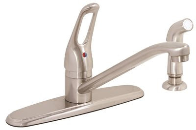 PREMIER® BAYVIEW™ KITCHEN FAUCET WITH LOOP HANDLE AND SPRAY, BRUSHED NICKEL, LEAD FREE - Score Materials - 2