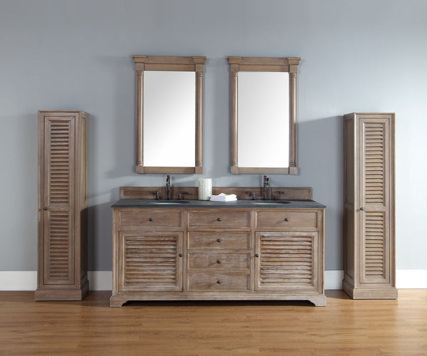 "James Martin Savannah Collection 72"" Double Bathroom Vanity, Driftwood 238-104-5711 - Score Materials - 2"